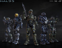 Halo 5: multiplayer group shot by profchaos354