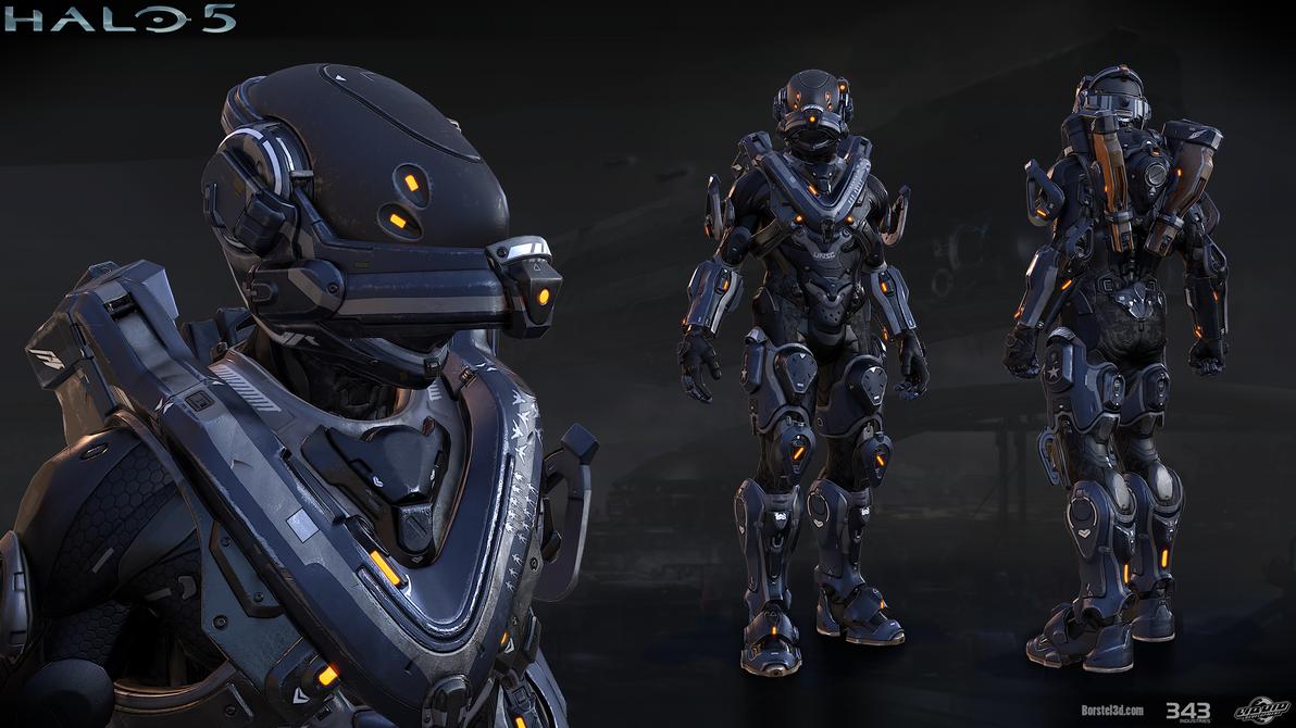 Halo 5 Mako Armor By Profchaos354 On Deviantart