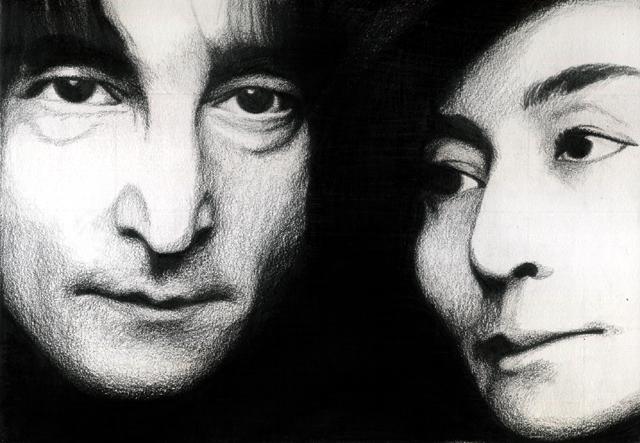 John Lennon and Yoko Ono | Jonathots Daily Blog |Sketches John Lennon And Yoko Ono