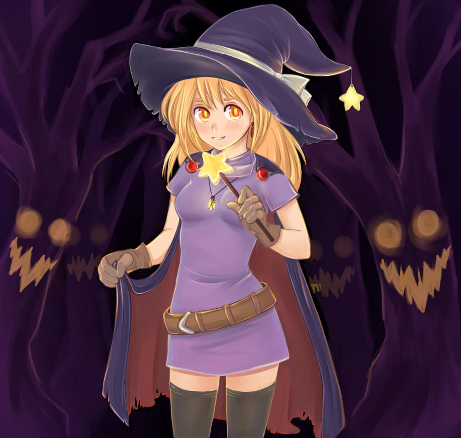 halloween witch by Lemna