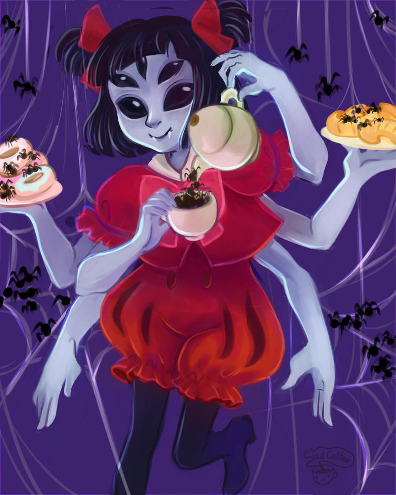 Muffet from Undertale by Lemna
