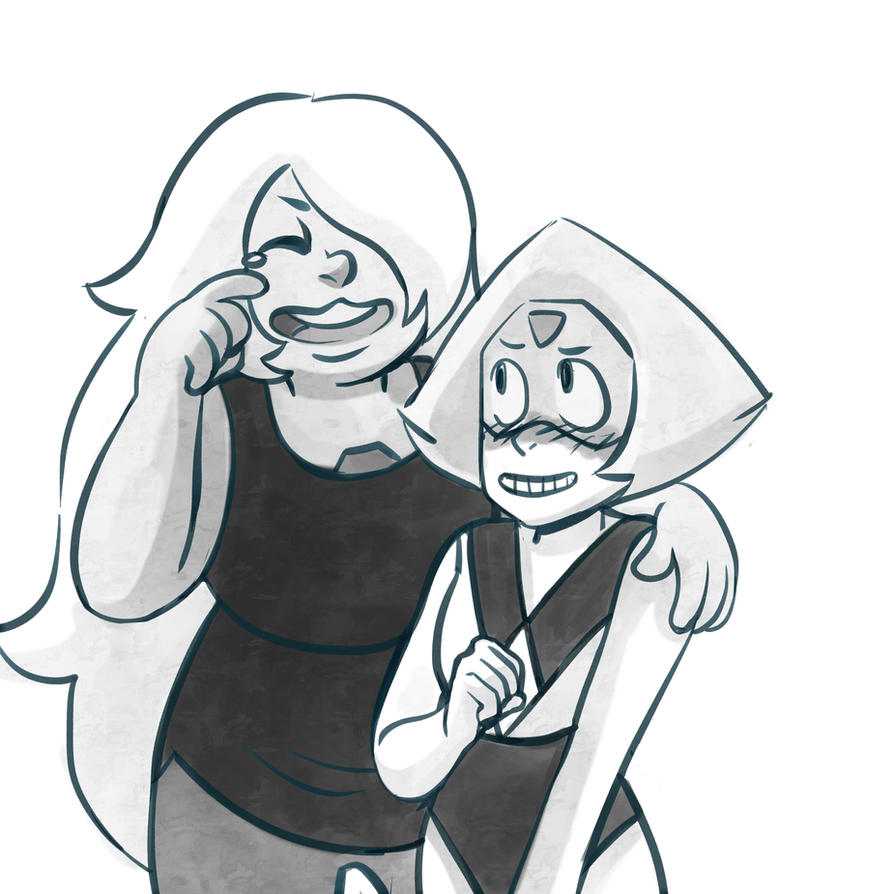 Amethyst and Peridot by Lemna