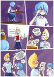 Comic strip about Blue and Yellow Pearls