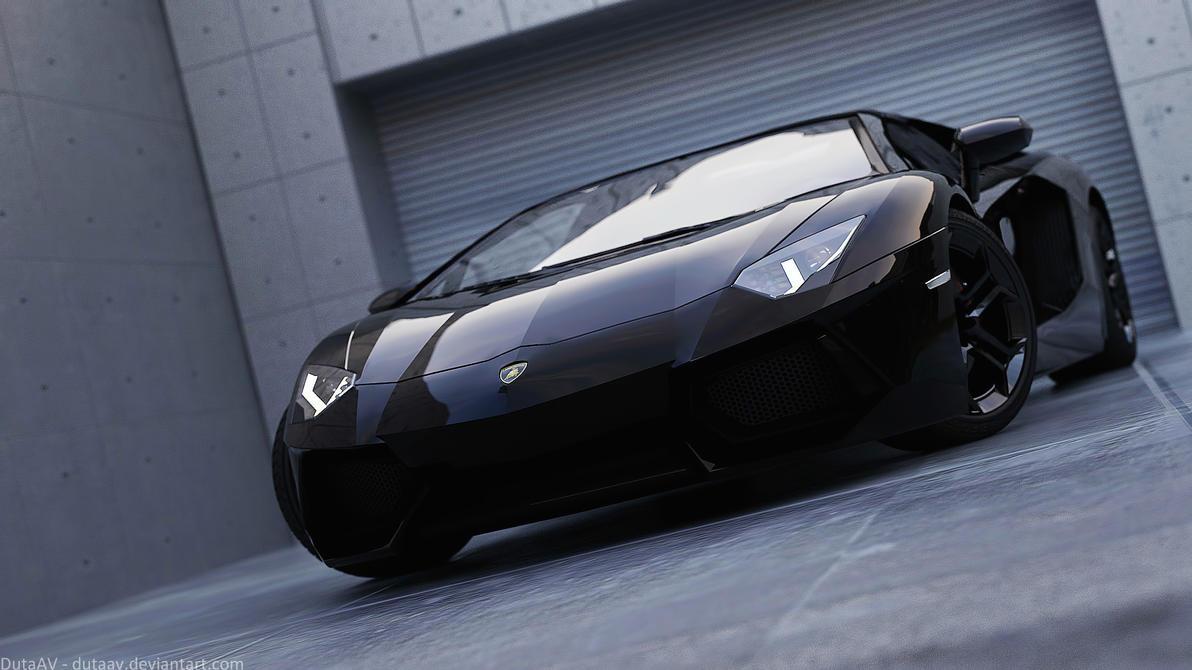 Lamborghini Aventador Black By Dutaav