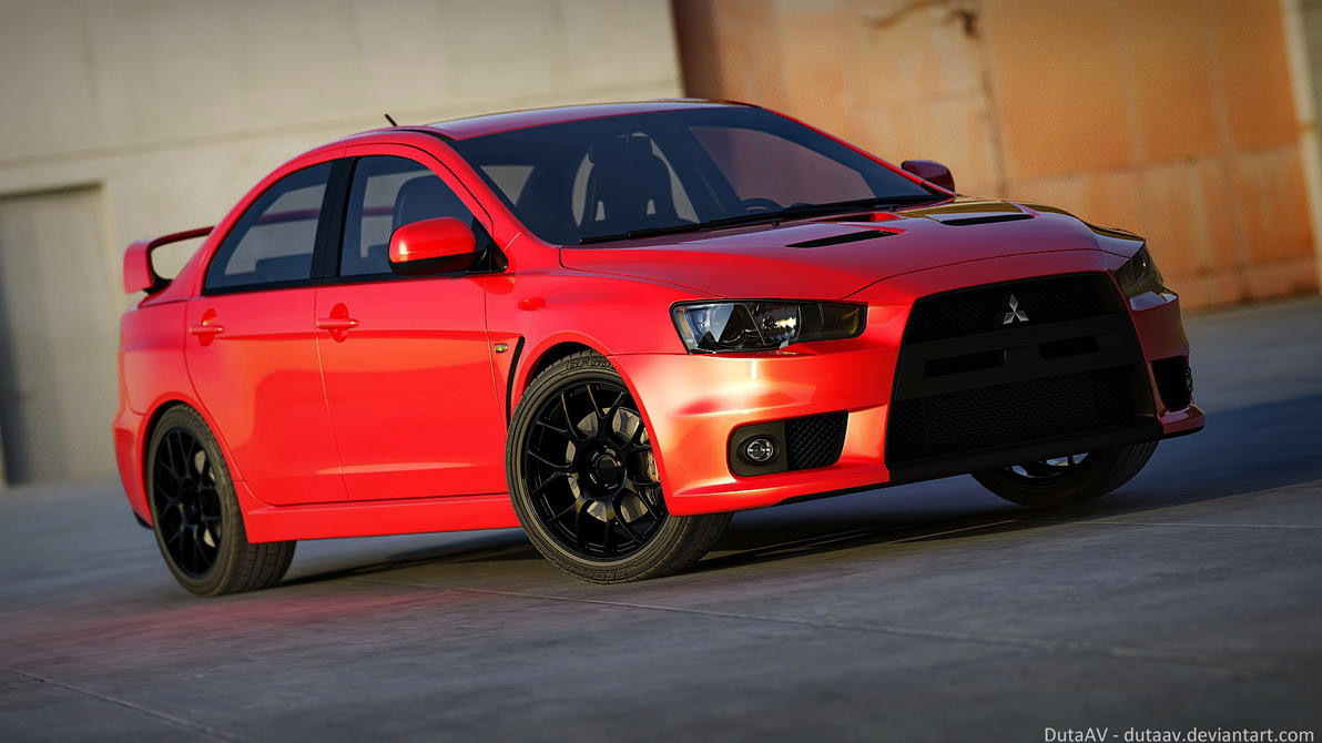 mitsubishi lancer evo x by dutaav on deviantart