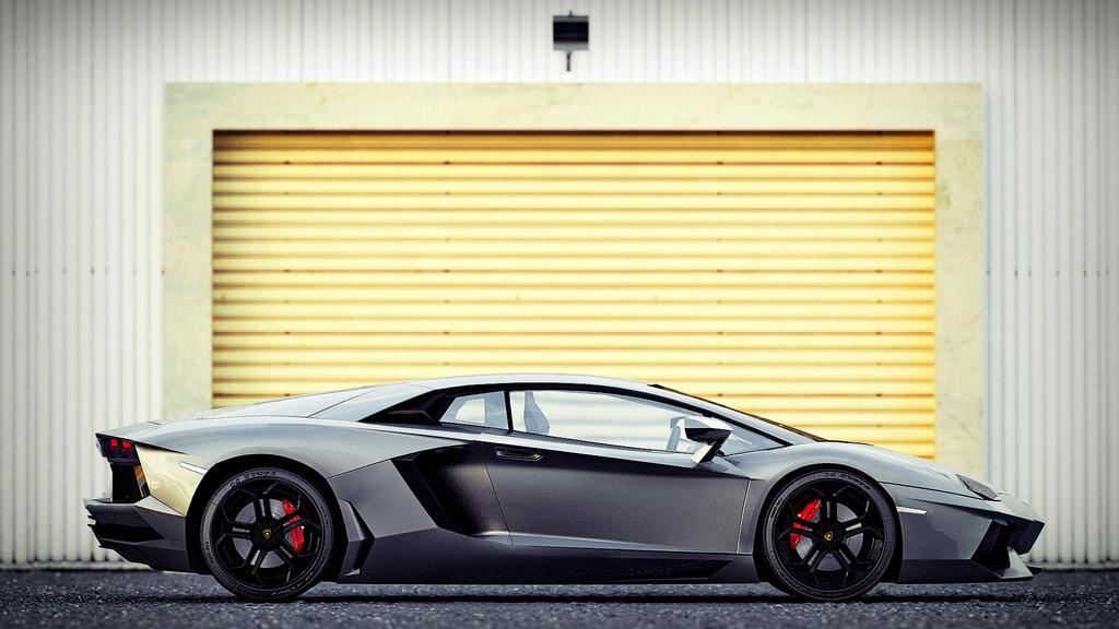 Lamborghini Aventador Side View by DutaAV