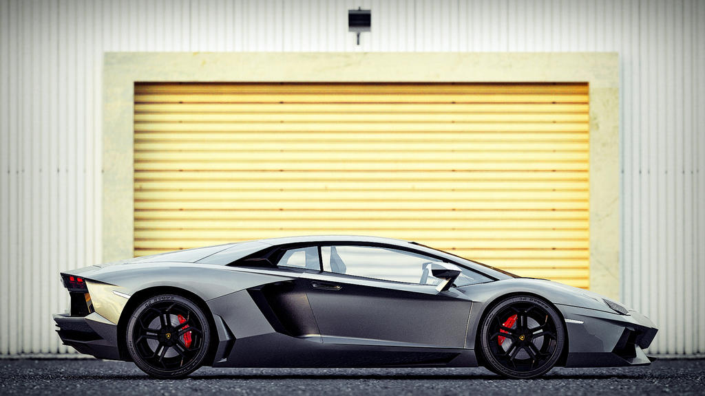 The Five Lamborghini (Side View) by VR-7 on DeviantArt  Lamborghini Aventador Drawing Side View