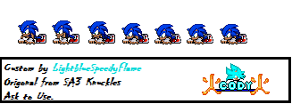 Sonic Push-up Sprites [Custom] by FlameBurstAnimations