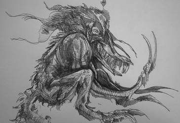 Gnashing thrasher by PtarmiganMan