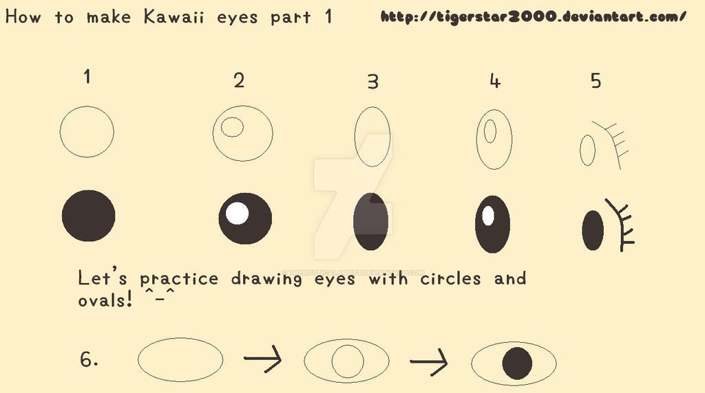 Draw Kawaii Eyes Tutorial Part 1 By Themysticalartist On Deviantart