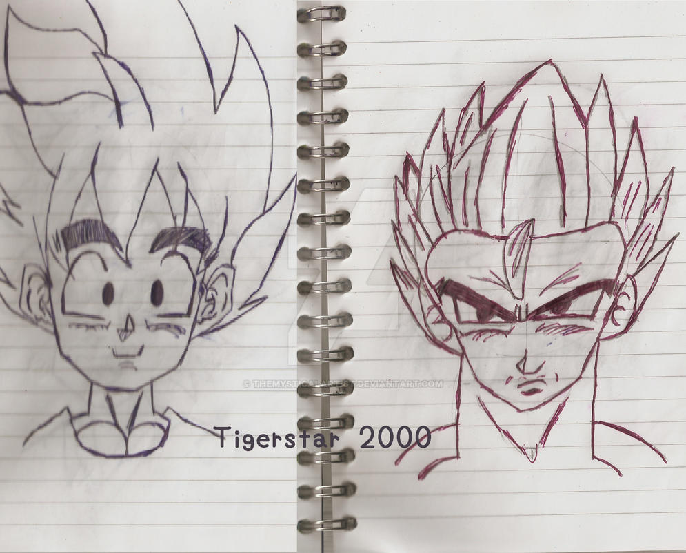 Dragon Ball Character Sketch by Tigerstar2000