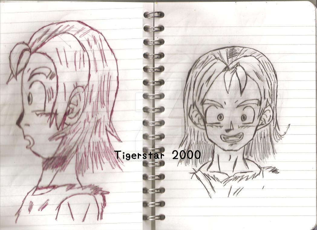 Dragon Ball Character Sketch 3 My OC by Tigerstar2000