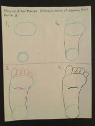 How to draw different styles of Feet part 2 by TheMysticalArtist