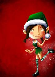 merry christmas elf by blastedgoose