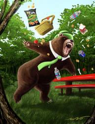 Yogi Bear Mauls Family of Five