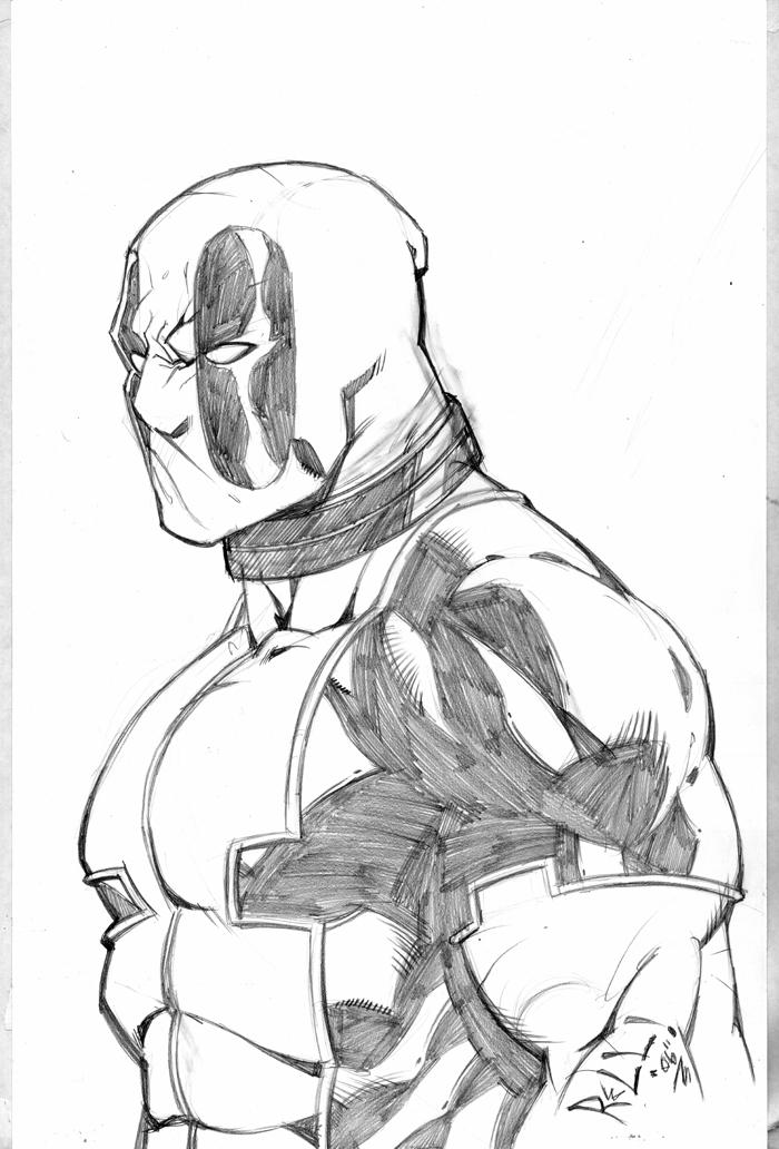 Deadpool Sketch By Bobbett On DeviantArt