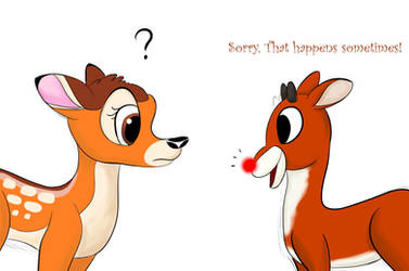 Bambi and Rudolph