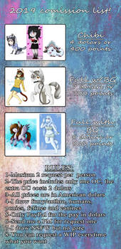 Comission info sheet