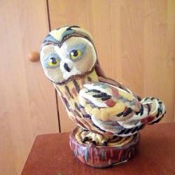 Dirty plasticine owl by Teke45