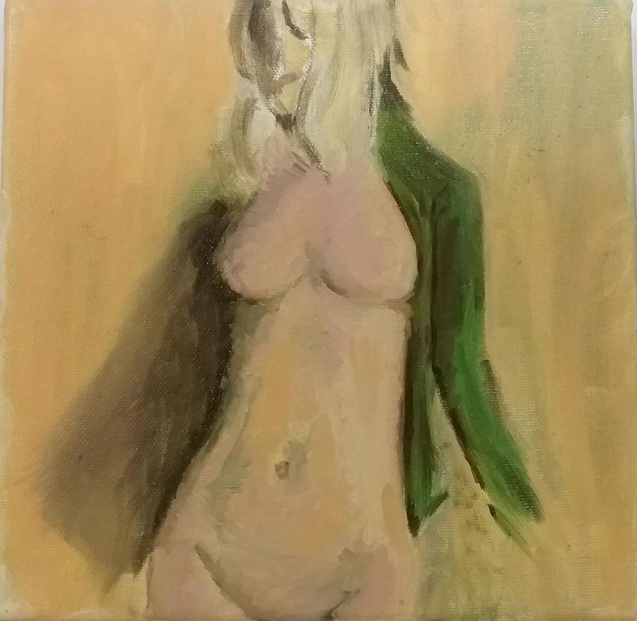 WIP nude oil on canvas by Mavanas