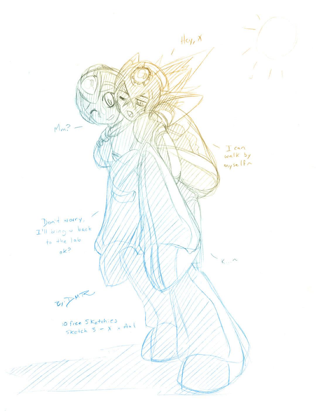 Sketchie 3: X X Axl by DMR-ELK