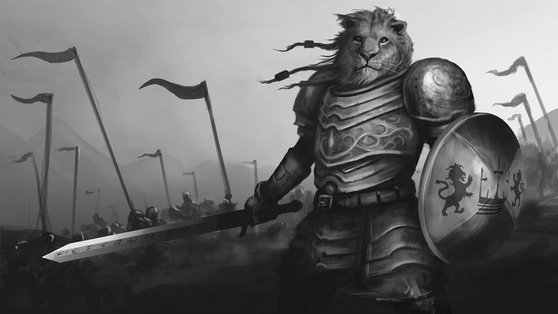 Deviantart Lion Warrior: Lion Defender By BobKehl On DeviantArt