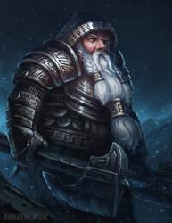 Dwarven Warrior by BobKehl