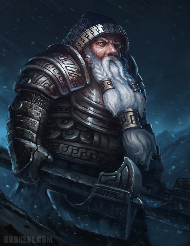 Dwarven Warrior by BobKehl