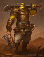 Orc Brawler concept by BobKehl