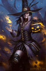 Happy Halloween Witch by BobKehl