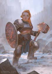 Dwarven forge cleric - Bob Kehl by BobKehl