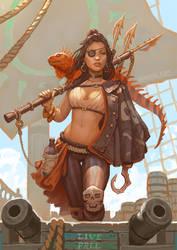 Live Free Harpooner pirate