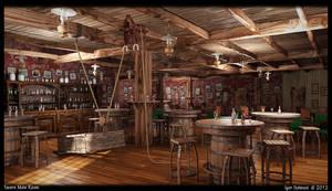 Tavern Main Room by f4f