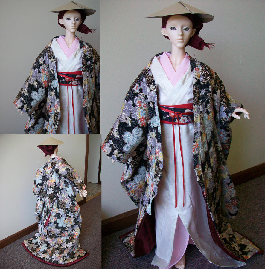 doll uchikake and kimono by Melbourne-Cha