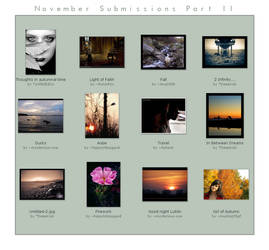 November Submissions Part II