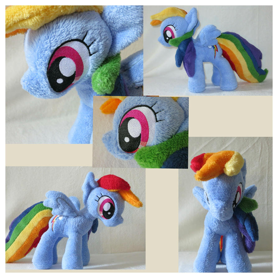 MLP plushie Rainbow Dash Collage by Irontree1973