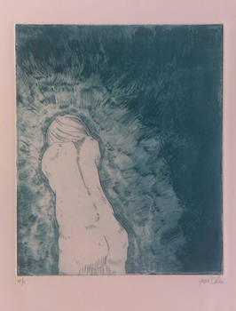 etching untitled green