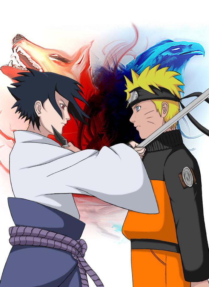 Sasuke VS Naruto by Wvlima