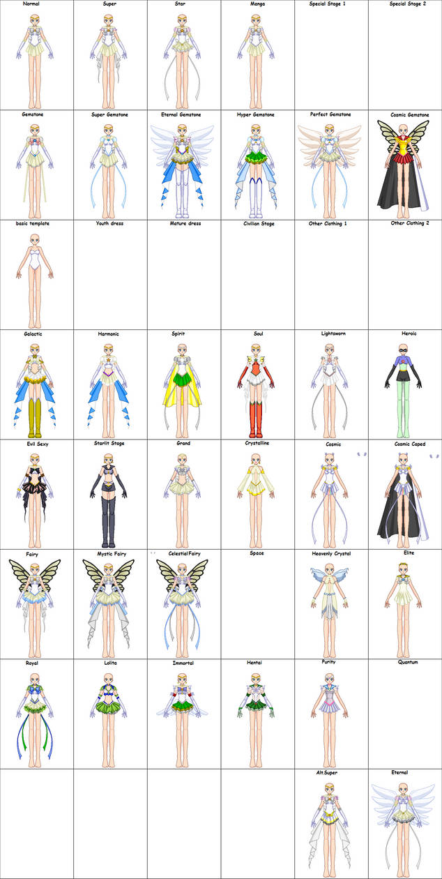 SSMU Senshi Set - Base Edit Version by JamieMoon