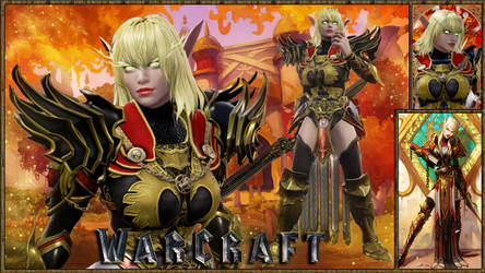 Warcraft Female Blood Elf Paladin (Blood Knight)