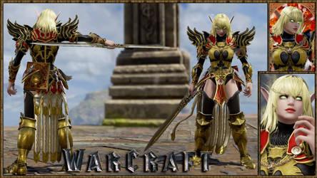 Warcraft Female Blood Elf Paladin(Blood Knight)