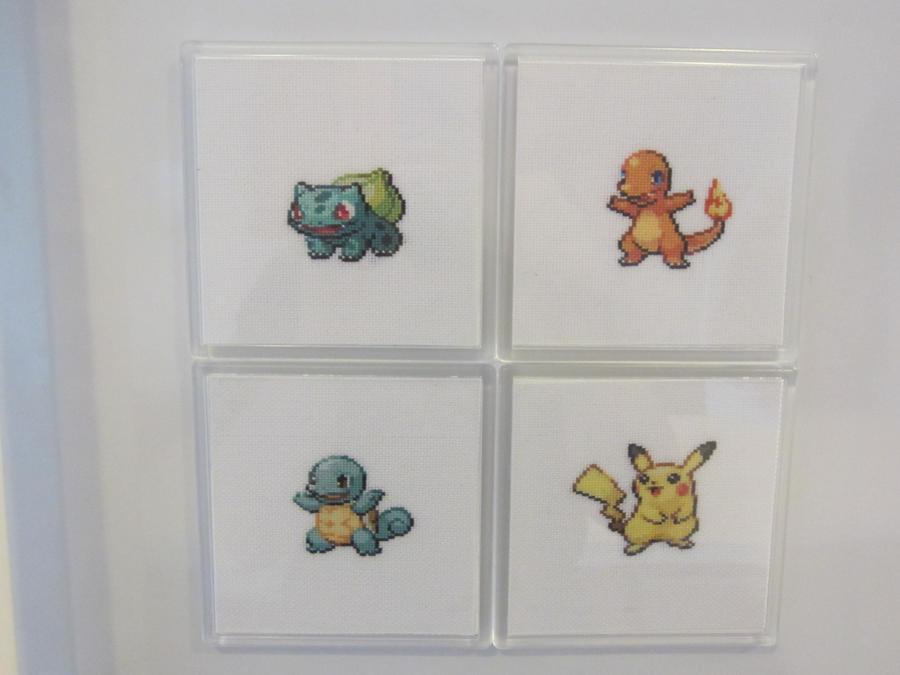Pokemon Generation 1 Starters by luna-notte