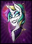 MLP Bust Print - Punk Rarity by CosmicChrissy