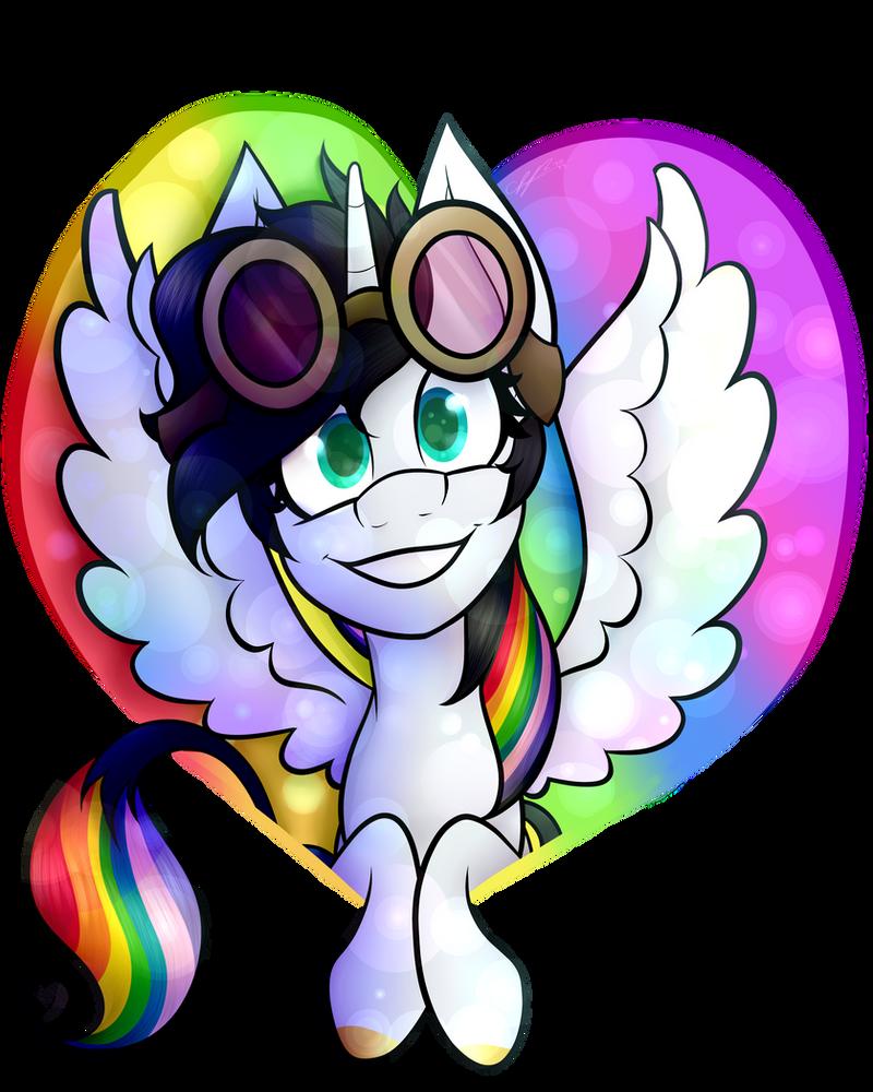 Pony Portrait - Lightning Bliss by CosmicChrissy