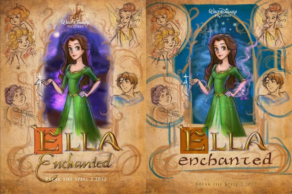 Ella Enchanted Movie Poster (comps) by polkapills