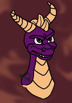 Spyro the Dragon- colored digital 1