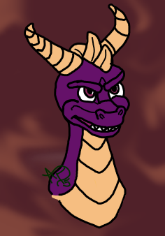 Spyro the Dragon- colored digital 1 by AshFisher
