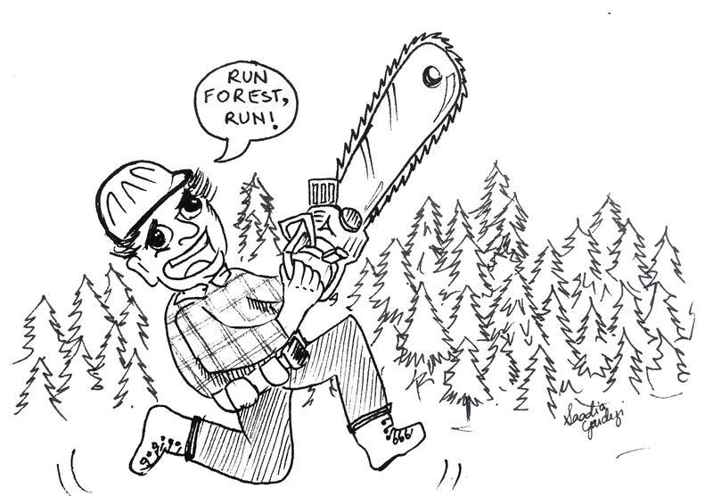 Deforestation Cartoon by saadiagardezi on DeviantArt