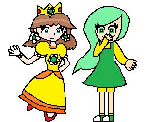 Princess Daisy and Greedy Nazario by MysticChaosEmeralds