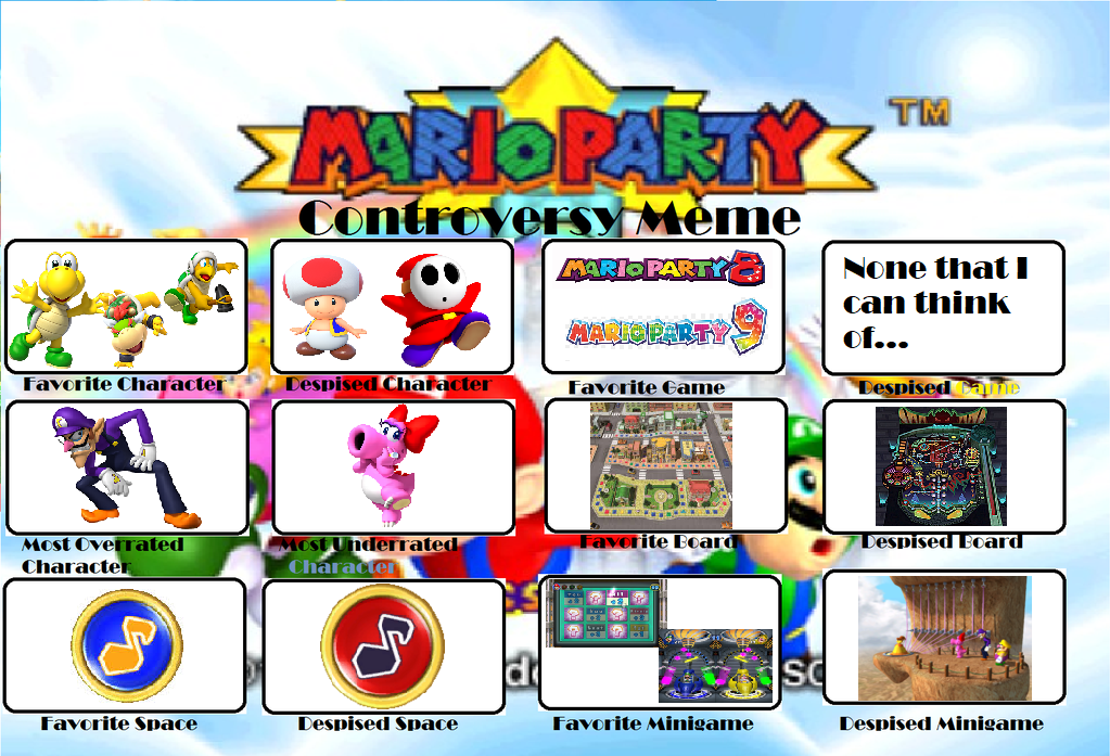 Mario Party Controversy Meme (my version) by MysticChaosEmeralds